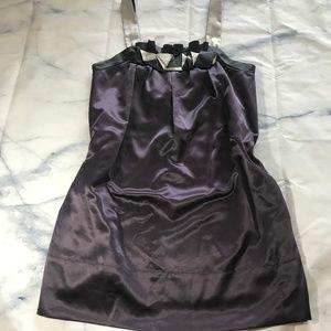 BCBGMaxAzria Metallic Purple & Silver Shift Dress
